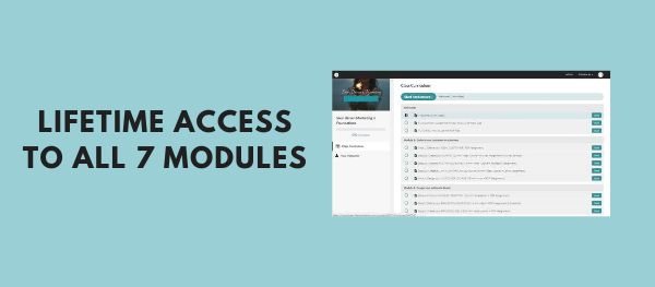 Lifetime access to all the modules of the course